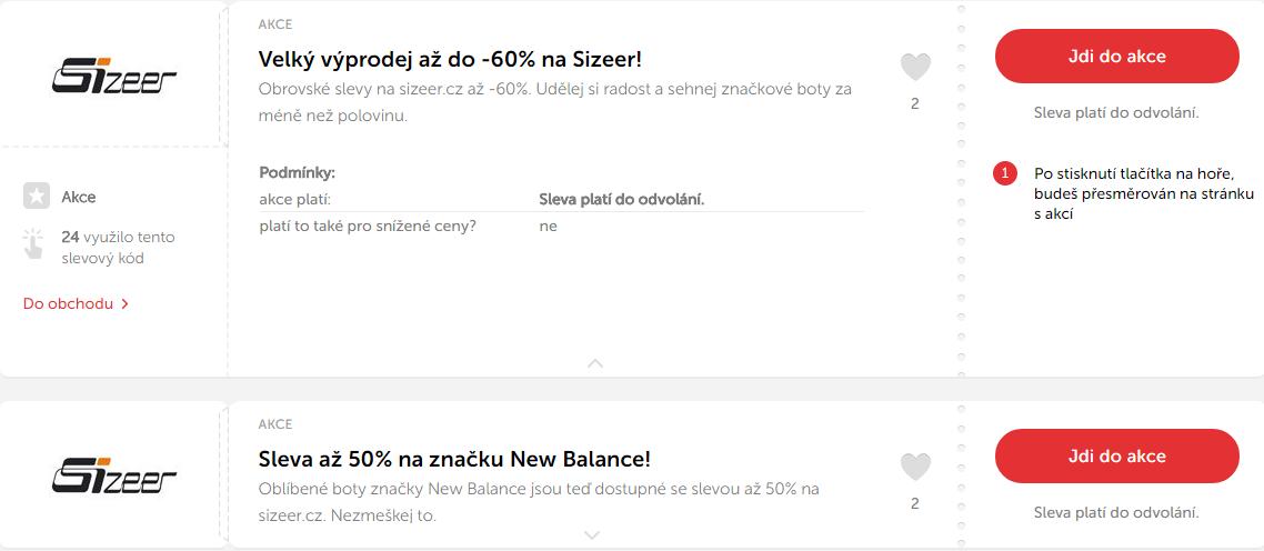 Hledejte slevové kódy a nakupujte levně značkovou módu na Sizeer.cz! ba7bc41c1b